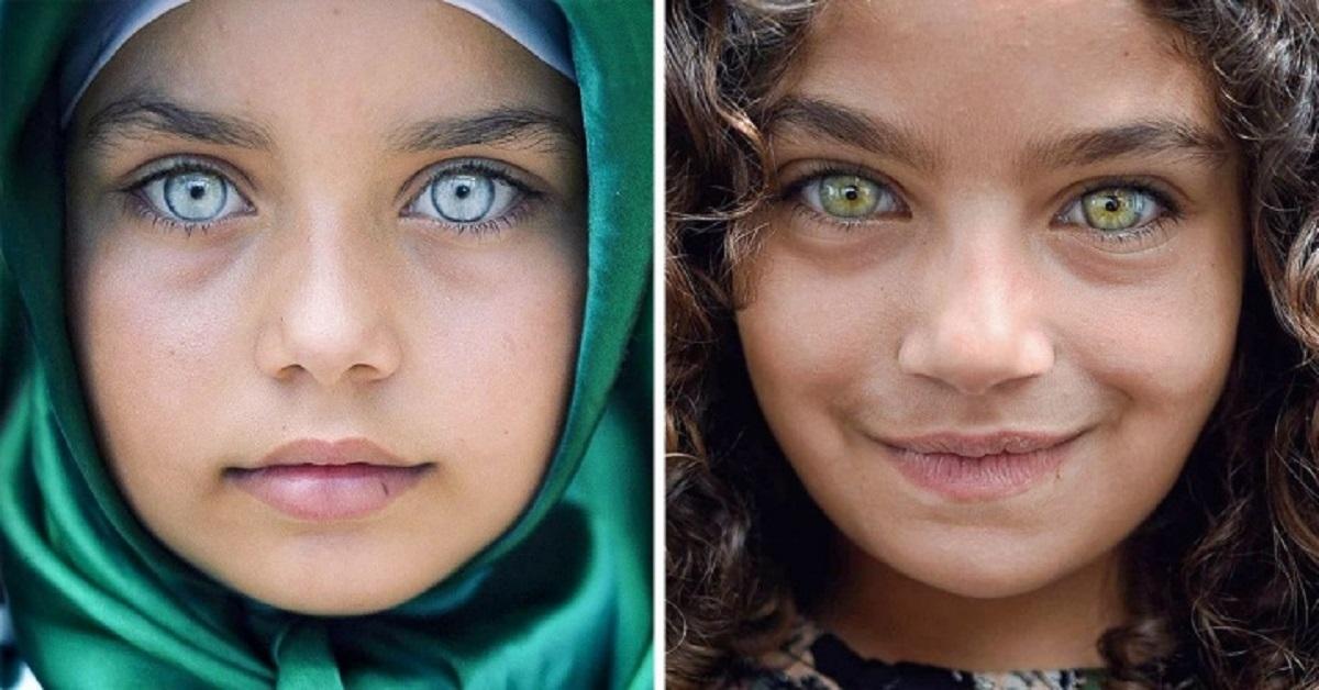 21 ritratti di bambini realizzati da un  fotografo che mostra come gli occhi sono delle gemme sui loro volti