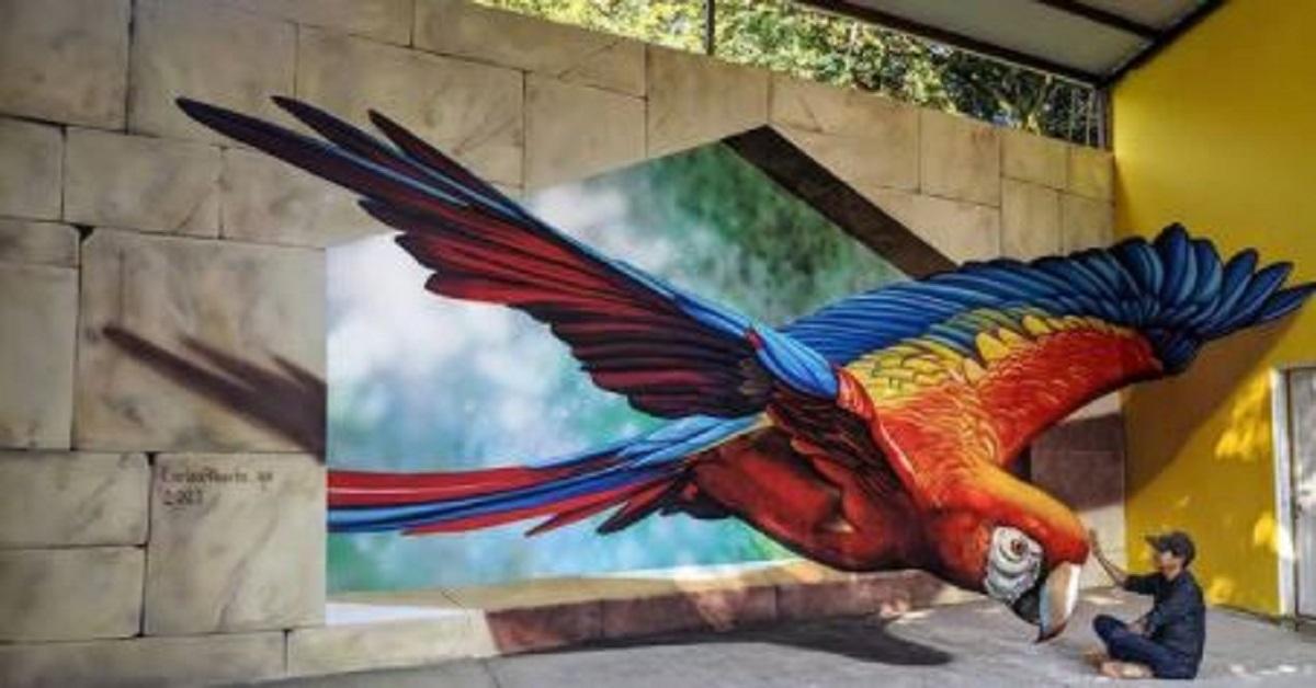 10 murales illusionistici 3D che sembrano reali creati da un artista messicano