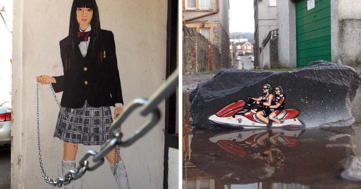 15 interventi di street art di JPS, l'artista che arricchisce i luoghi che la maggior parte delle persone trascurerebbe