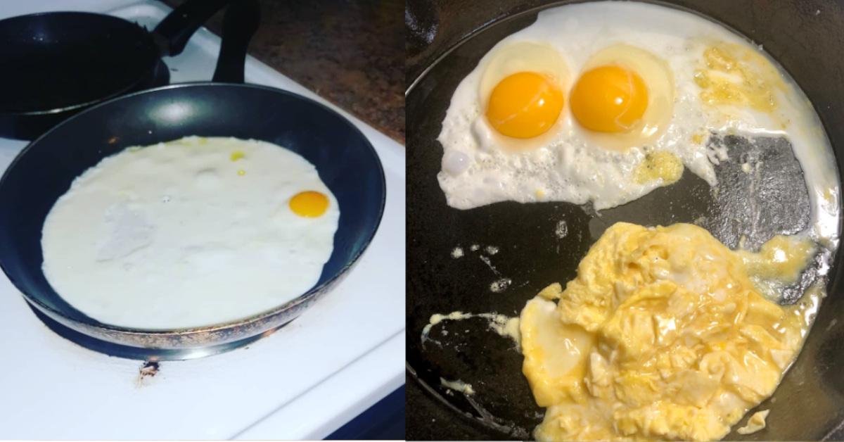 Hanno condiviso le foto della preparazione delle uova sui social, i risultati sono decisamente strani