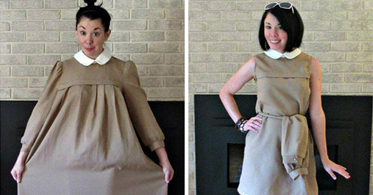 24 abiti di 1 dollaro trasformati in capi di moda da una donna molto creativa