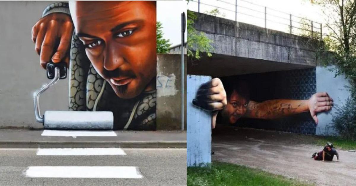 13 opere di street art 3D magistralmente realizzate tanto da confondere il tuo cervello