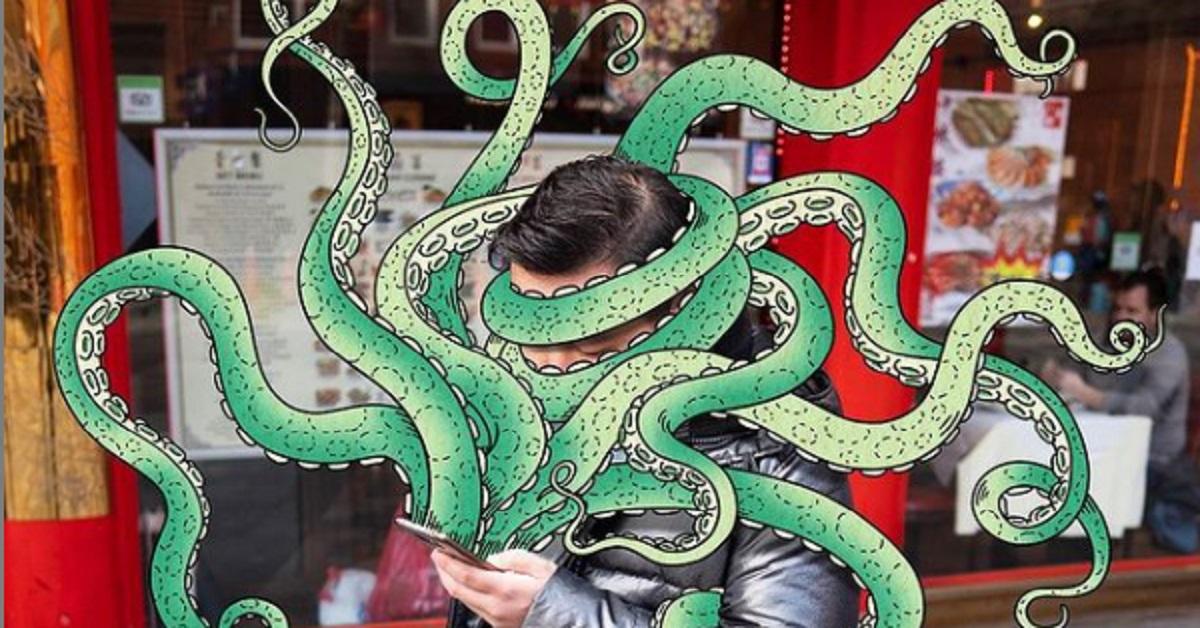 5+ mostri succhiatori di telefoni, l'interessante progetto dell'illustratore  Andrew Rae