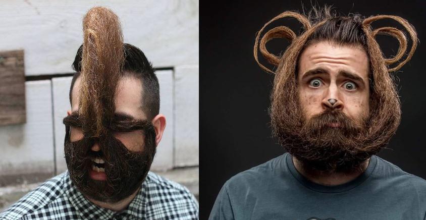 """12 forme di barba fantasiose realizzate da un uomo conosciuto come """"Mr Incredibeard"""""""