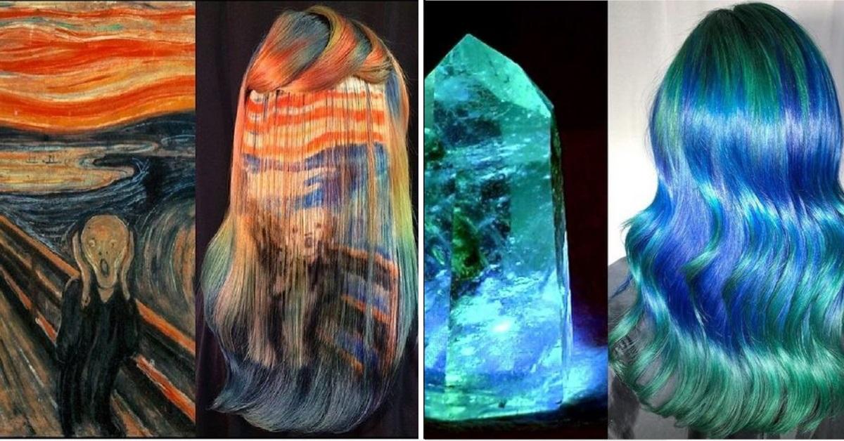 13 colorazioni di capelli ispirate all'arte e alla natura, il talento di Ursula Goff
