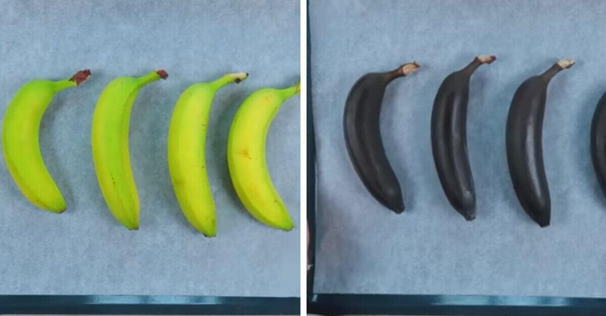 Mette le banane in forno per alcuni minuti. Conoscevi questo trucchetto? Ecco a che serve