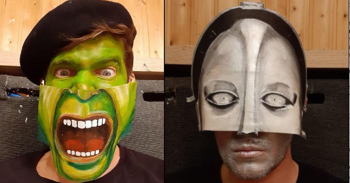 26 maschere ricreate da un artista austriaco per ogni giorno di confinamento