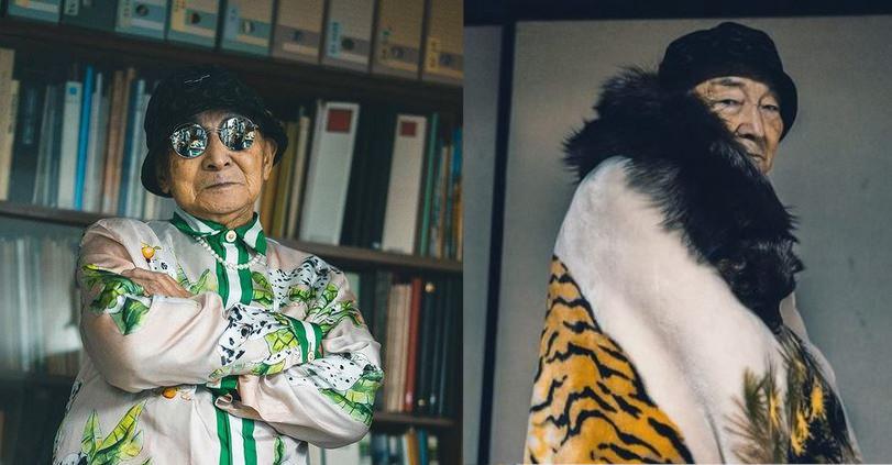 12 pose fashion di un modello d'eccezione. Lui è Tetsuya ed ha ben 86 anni