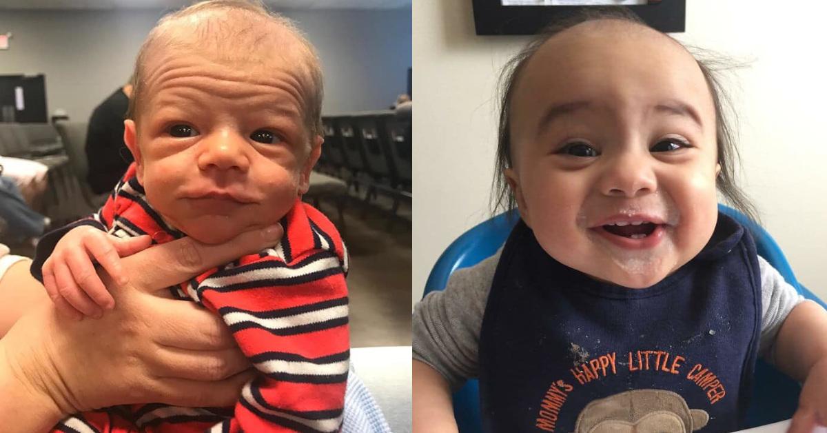 """23 neonati che hanno sorpreso i genitori per il loro aspetto """"da anziani"""""""