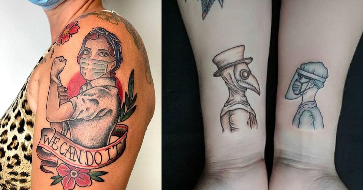 14 persone condividono i loro tatuaggi con disegni che ricordano il difficile periodo della pandemia