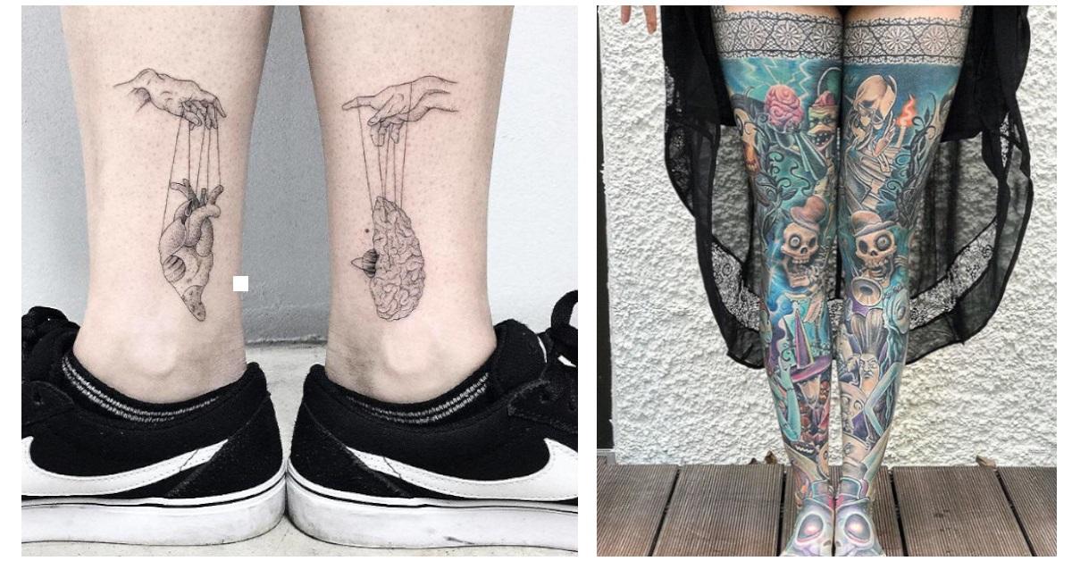 23 epici tatuaggi realizzati sulle gambe, sembrano dei veri capolavori