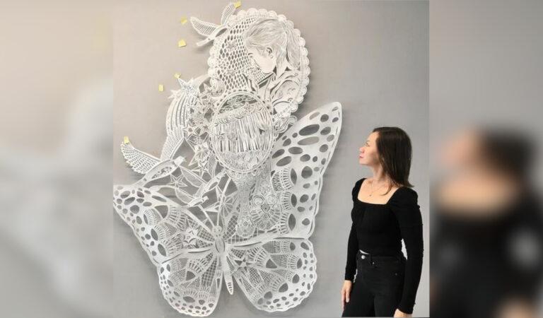 11 bellissime opere d'arte ricavate dal taglio dettagliato e particolare della carte