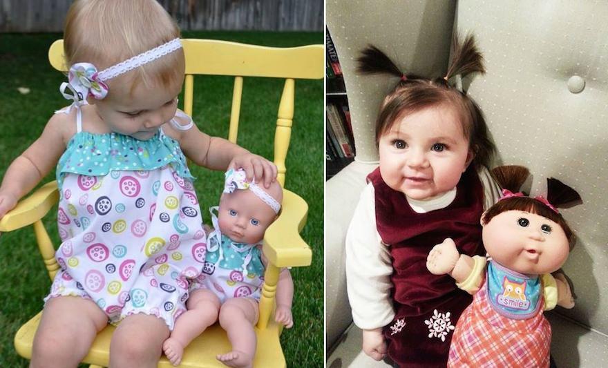 19 dolcissimi bambini che hanno una bambola uguale a loro, sembrano fatte appòsta!