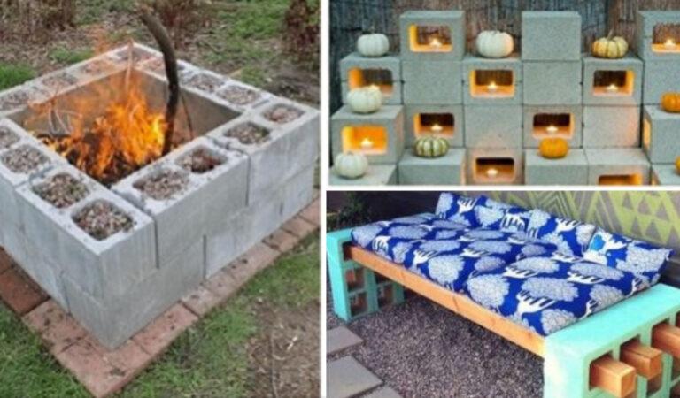 12 utili ed economiche idee realizzate con semplici blocchi di cemento