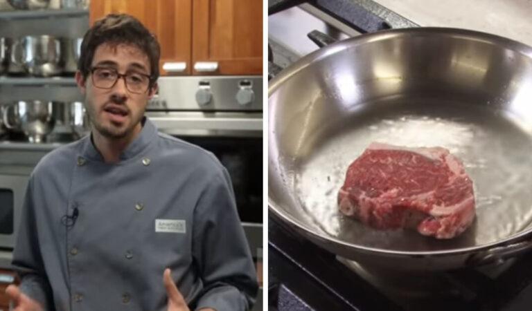 Chef Professionista mostra come cucinare al meglio delle bistecche congelate