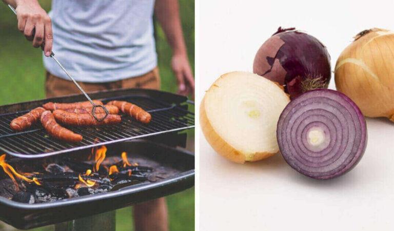 Come pulire il barbecue, con cipolla o fondi di caffè