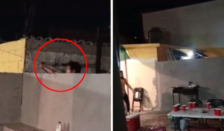 La donna lancia l'acqua nella casa del vicino mentre fa festa, il video fa il giro del mondo