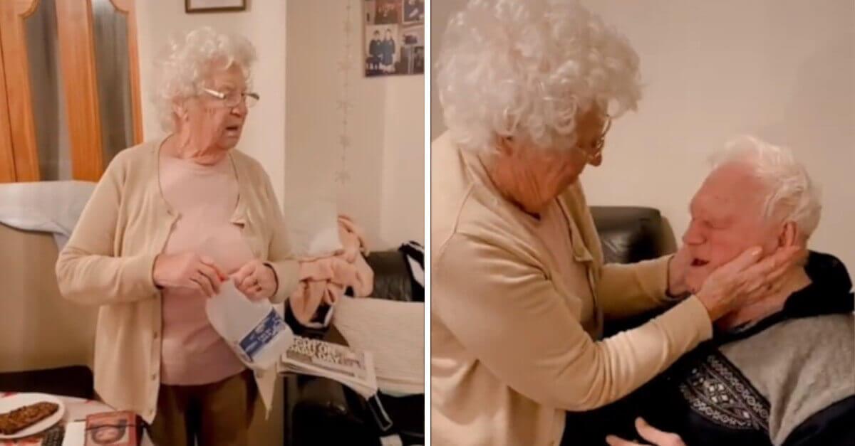 Nonnina incontra il marito che ha lasciato l'ospedale; il commovente video diventa virale