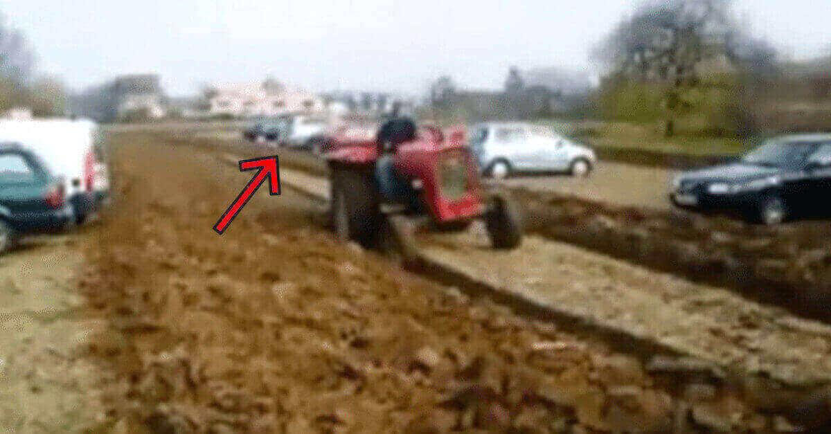 Un contadino si vendica delle auto che hanno sempre parcheggiato sulla sua terra ed il video fa il giro de mondo