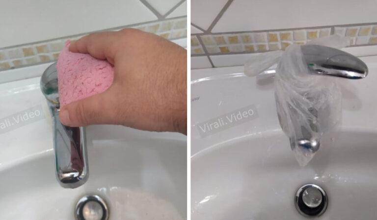 Come rimuovere il calcare dai rubinetti in tre passaggi