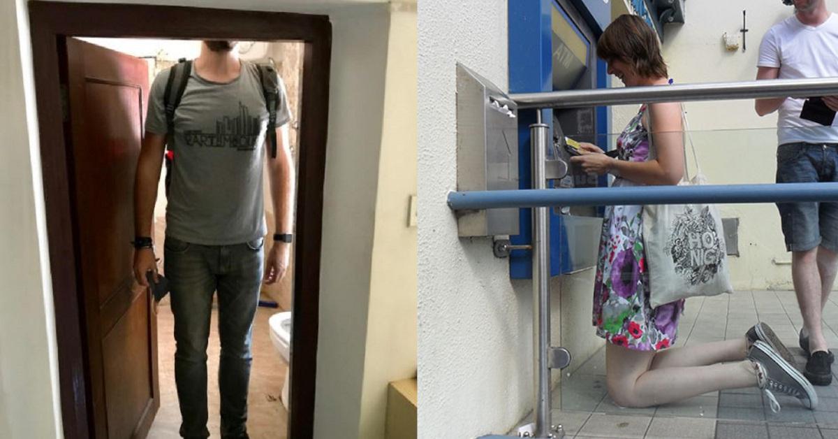 18 immagini di persone alte che ogni giorno si trovano a dover affrontare alcuni disagi