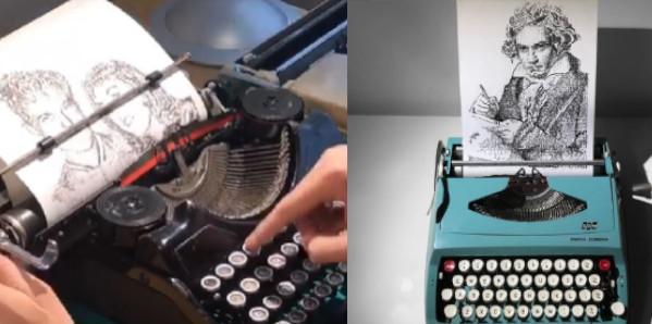 15 capolavori d'arte creati con la macchina da scrivere. C'è chi non sa scrivere neanche una frase e poi c'è lui!