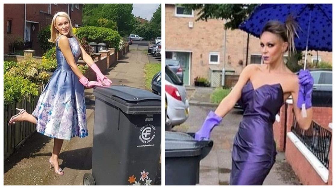 Si veste elegante per portare fuori la spazzatura e  divertire i suoi vicini.I suoi 13 migliori outfit