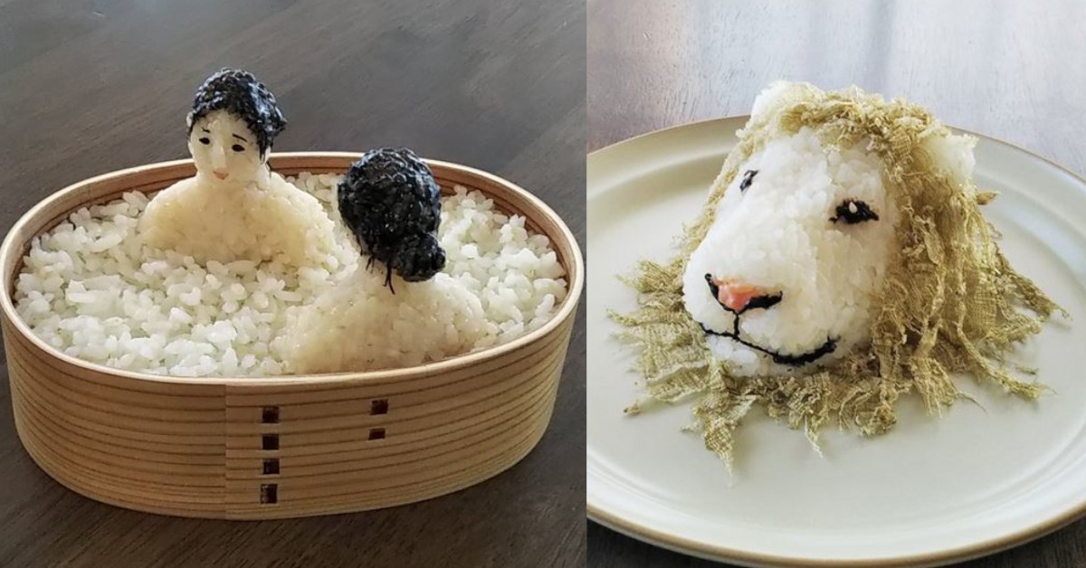 12 palle di riso onigiri trasformate in mini sculture eccezionali da uno youtuber giapponese