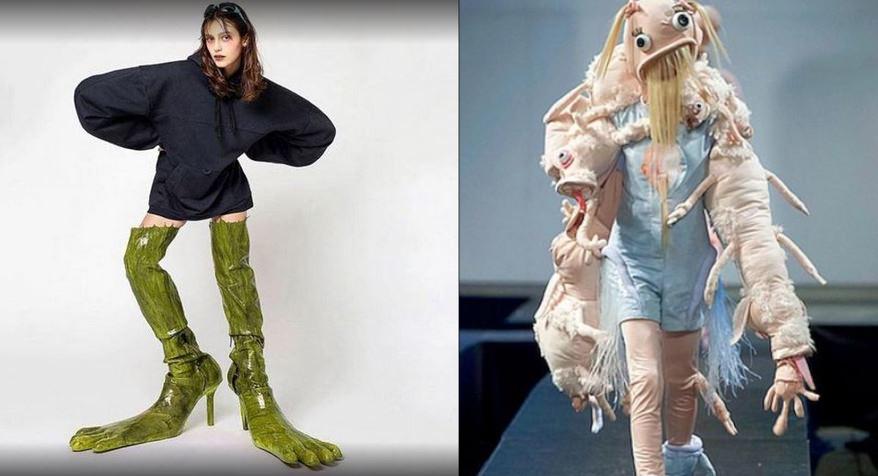 18 tra i più pazzi outfit del mondo della moda. Immaginateli durante la sfilata