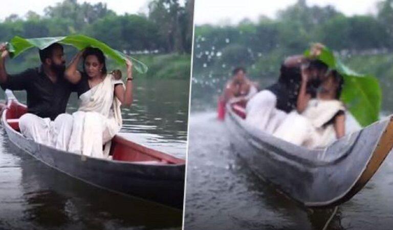 Coppia di sposi cade nel fiume durante il servizio fotografico, il video divertente ha fatto il pieno di visualizzazioni