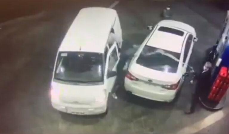 Uomo spruzza benzina sui ladri che volevano derubarlo
