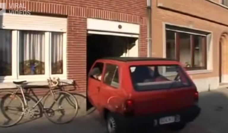Un anziano parcheggia ogni giorno in un garage appena 6 centimetri più largo della sua panda