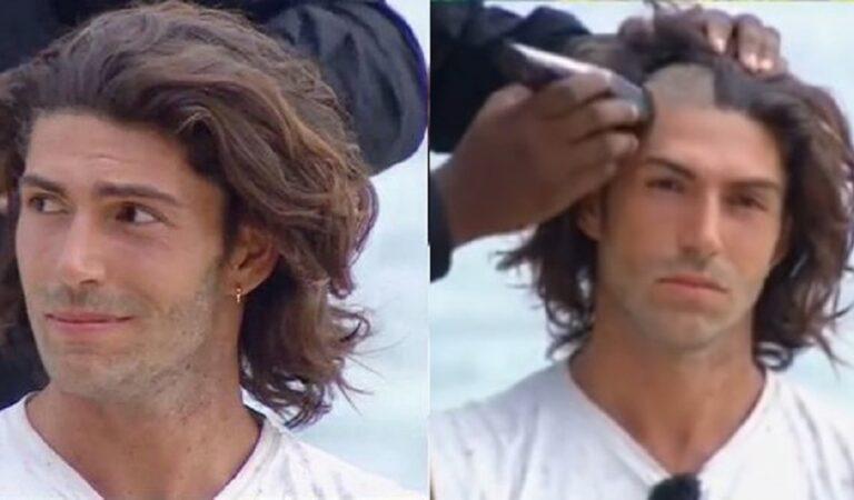Isola dei famosi: Ignazio Moser si sacrifica per il gruppo ed  in diretta si fa rasare barba e capelli. VIDEO