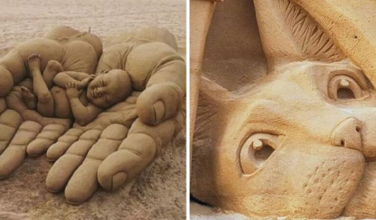 20 meravigliose sculture di sabbia tra le più belle condivise sui social
