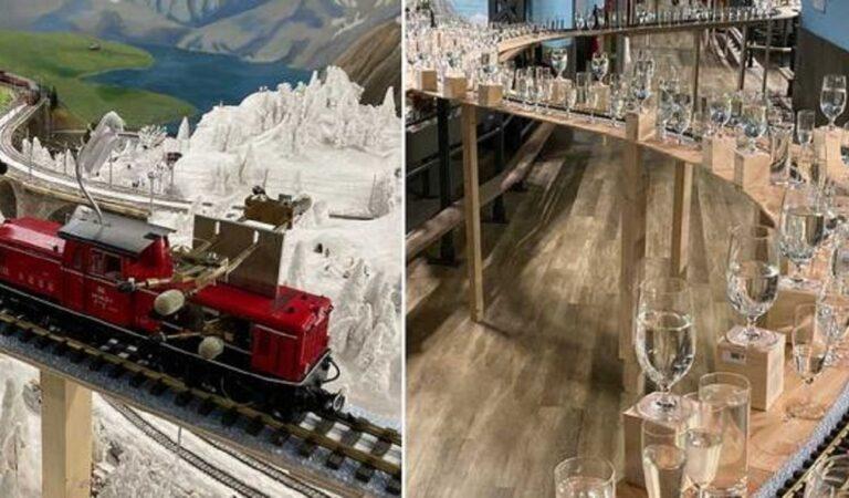 Modellino ferroviario da record fa risuonare brani classici con 2.840 bicchieri di cristallo