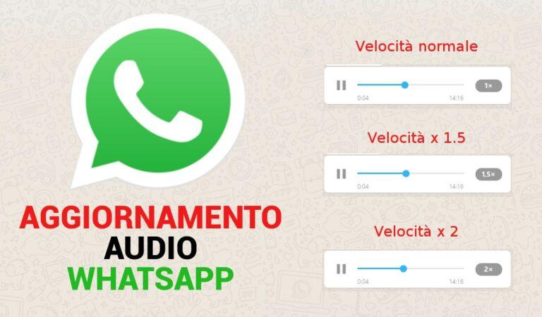 Novità WhatsApp: adesso i messaggi audio potranno essere velocizzati
