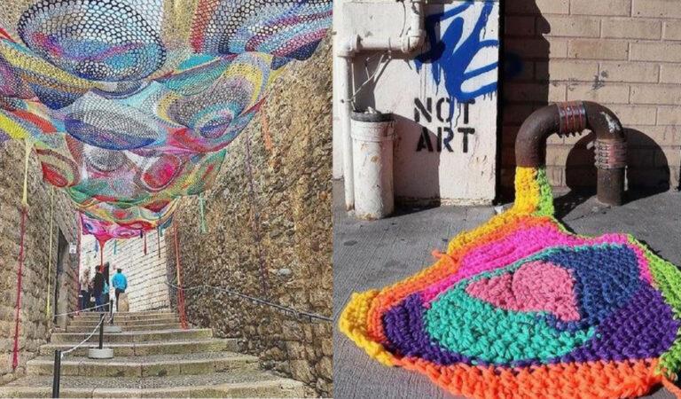 """15 straordinarie Yarn bombing, la street art che ricopre """"a maglia"""" e colora gli spazi urbani"""