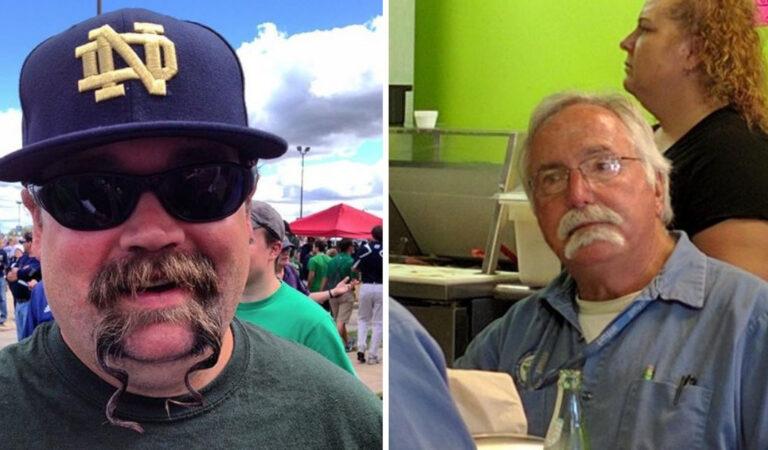 16 uomini che hanno deciso di mostrarsi con doppi baffi: una tendenza davvero eccentrica