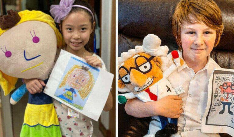19 bambini che hanno progettato i propri peluche grazie a un'innovativa azienda