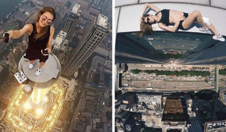 Diventa famosa sui social rischiando la vita in modo irresponsabile per realizzare degli scatti estremi(10 Foto)