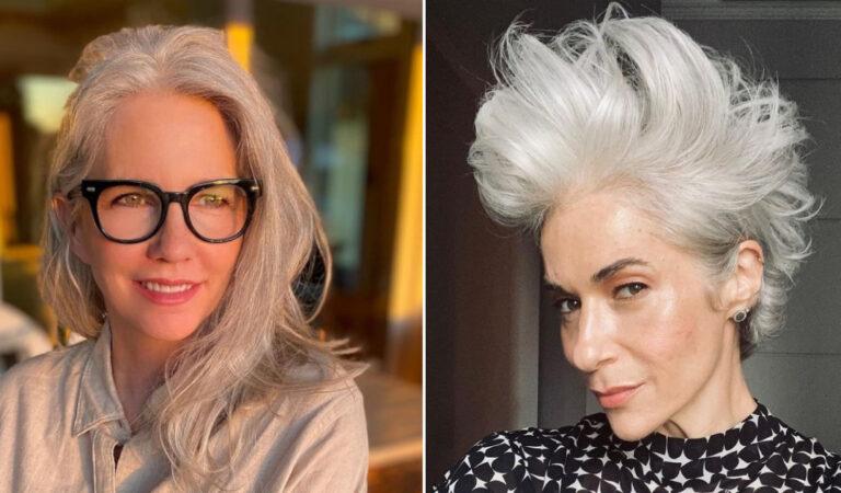 19 donne che hanno dimostrato che i capelli grigi possono donare un look molto bello