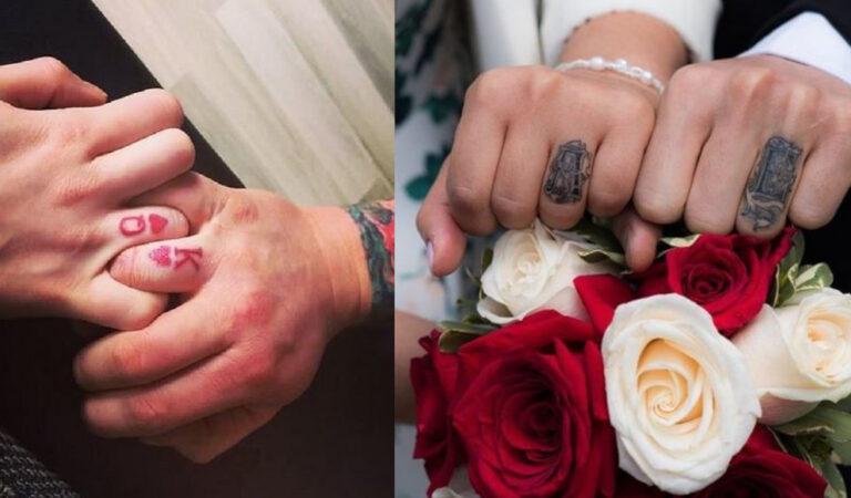 17 coppie che hanno rinunciato alle fedi per dei simbolici tatuaggi permanenti