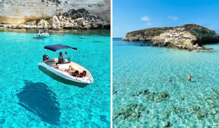 L'incantevole Isola di Lampedusa: 10  spiagge e calette da sogno. Viene voglia di tuffarsi! (13 Foto)