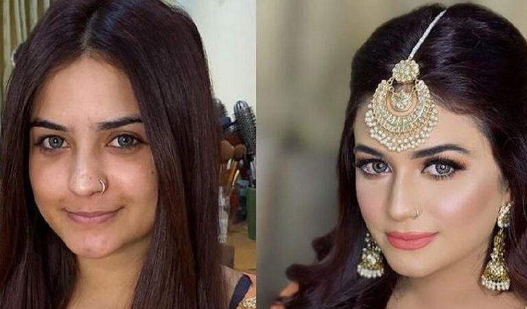 Prima e dopo il trucco da sposa: 20 trasformazioni realizzati da una make up artist pakistana