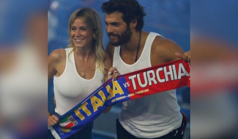 Diletta Leotta e Can Yaman insieme allo stadio per la partita Italia- Turchia, la reazione di lui dopo la sconfitta.