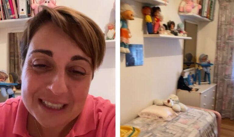 Benedetta Rossi mostra sui social la stanzetta di quando era piccola con tutti i cimeli gelosamente corservati