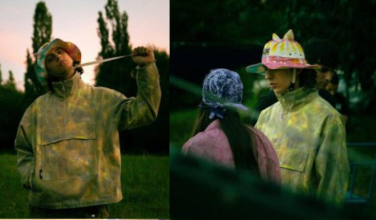 Nel video Malibù, Sangiovanni indossa un cappello multicolor con le orecchie. Sapete quanto costa?