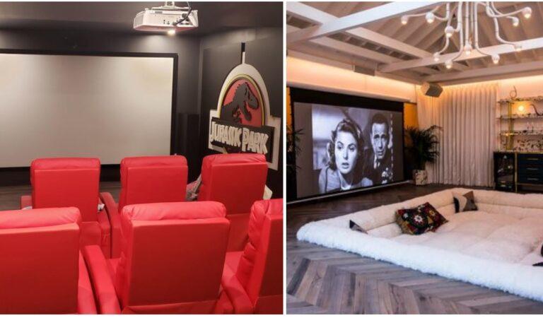 """15 meravigliose stanze trasformate in """"cinema privato in casa"""" da far invidia a chiunque"""