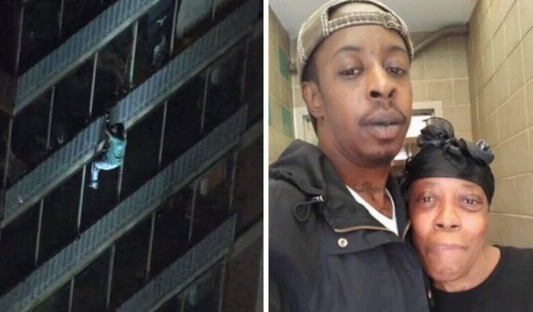 Un uomo si arrampica su un edificio di 19 piani per salvare sua madre, costretta a letto, da un incendio nell'appartamento