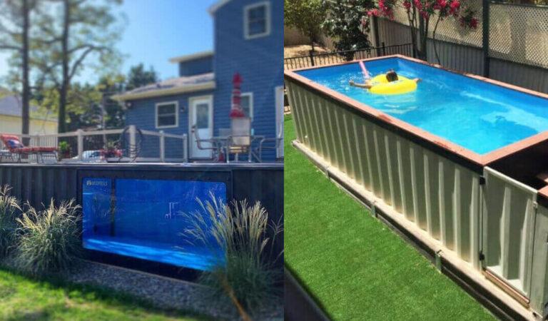 Container trasformati in piscine da giardino: 13 interessanti esempi